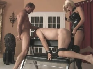 Cute Domina with Strapon and..