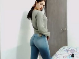 college girl in tight jeans..
