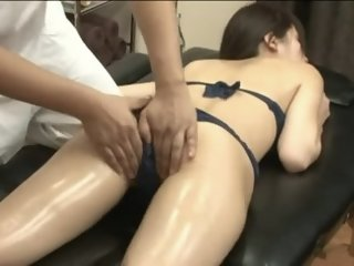 Handsome Asian minx enjoys..